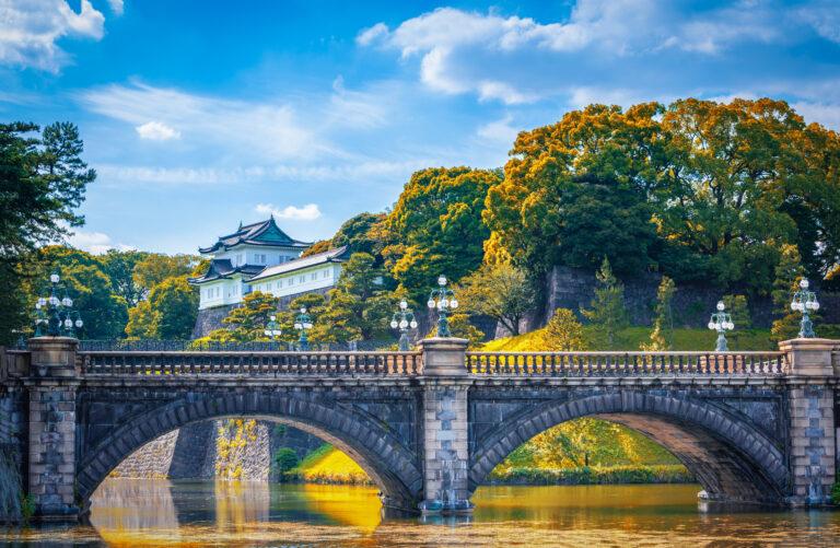 Exploring Nijubashi Bridge in Tokyo, Japan