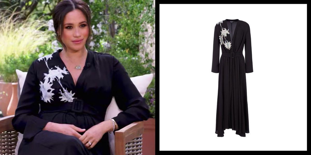 Meghan Markle Wears Armani Dress for Oprah Tell-All Interview